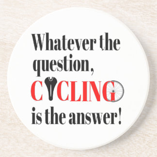 Cycling is the Answer Beverage Coasters