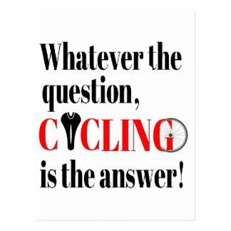 Cycling is the Answer Postcard