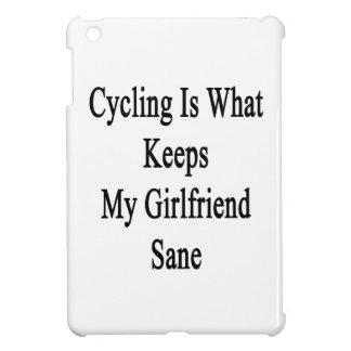 Cycling Is What Keeps My Girlfriend Sane iPad Mini Cover