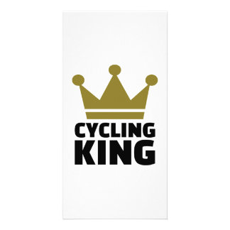 Cycling king champion picture card