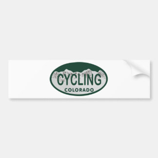cycling license oval bumper sticker