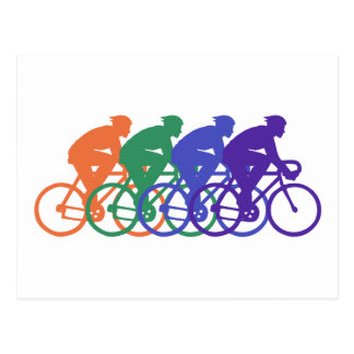 Cycling (male) postcard