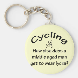 Cycling Man Key Ring