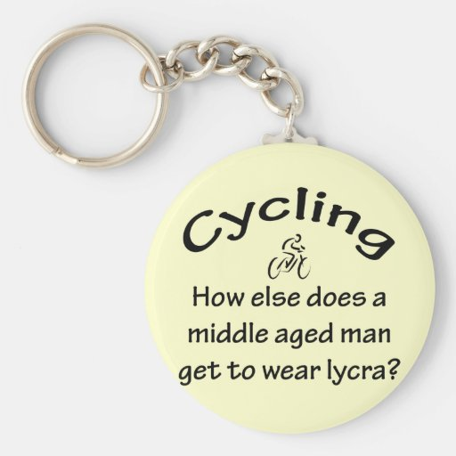Cycling Man Keychains