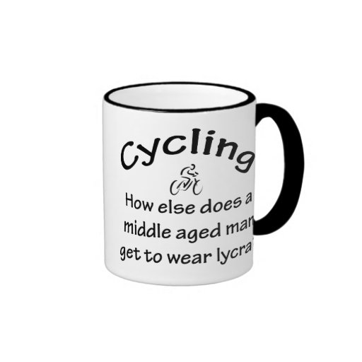Cycling Man Coffee Mugs