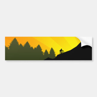 cycling mountain rayz bumper sticker