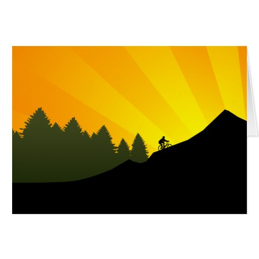 cycling : mountain rayz : greeting cards