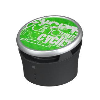 Cycling; Neon Green Stripes Speaker