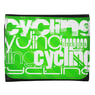 Cycling; Neon Green Stripes Wallets