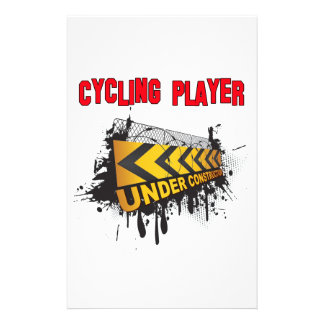 Cycling Player Under Construction Personalized Stationery