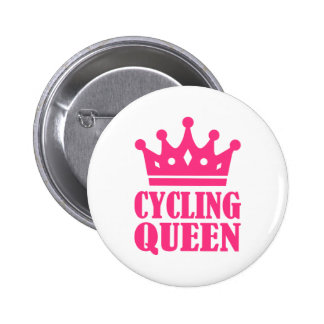 Cycling queen champion 6 cm round badge