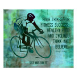 Cycling Quote and Fitness Poster