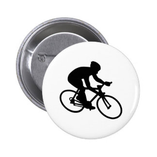 Cycling race 6 cm round badge