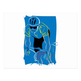 Cycling Racer Postcard
