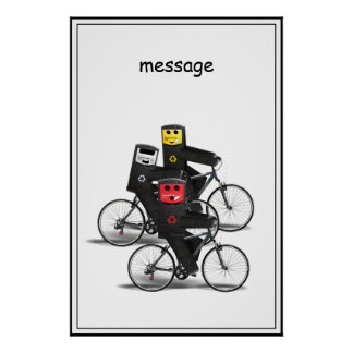 Cycling Recycle Bins Poster