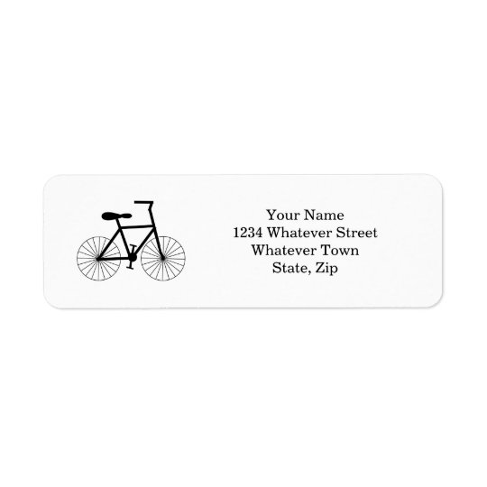 Cycling Return Address Label