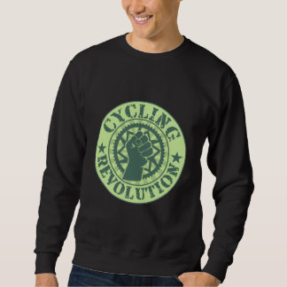 Cycling revolution badge sweatshirt