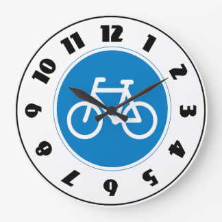 Cycling Road Sign Clock
