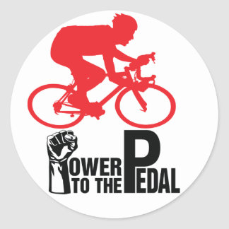 Cycling Round Sticker