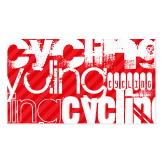 Cycling; Scarlet Red Stripes Double-Sided Standard Business Cards (Pack Of 100)