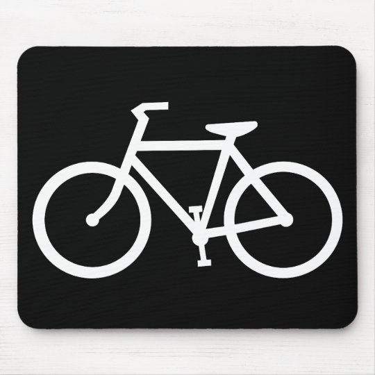 cycling silhouette mouse mat