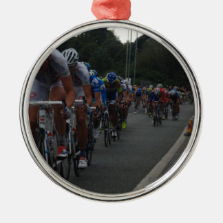 Cycling Silver-Colored Round Decoration