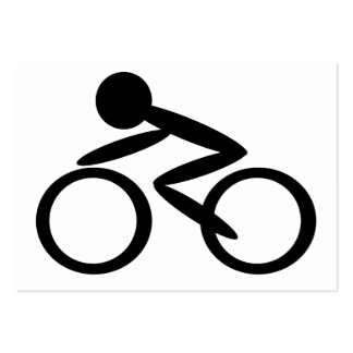 Cycling Stick Figure Business Cards