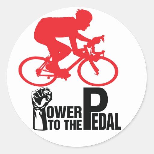Cycling Round Sticker
