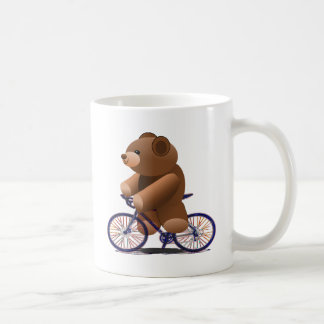 Cycling Teddy Bear Print Coffee Mug