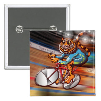 Cycling Tiger 15 Cm Square Badge