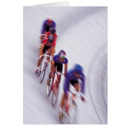 Cycling Track Race Bicycle Cycle Bicycling Cards