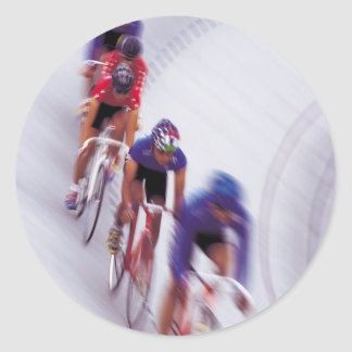 Cycling Track Race Bicycle Cycle Bicycling Classic Round Sticker