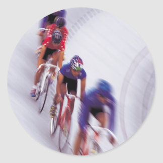 Cycling Track Race Bicycle Cycle Bicycling Round Sticker