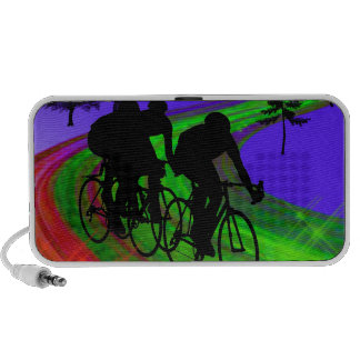 Cycling Trio on Ribbon Road PC Speakers