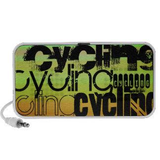 Cycling; Vibrant Green, Orange, & Yellow Laptop Speakers