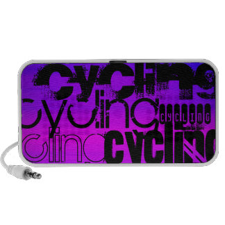 Cycling; Vibrant Violet Blue and Magenta Travelling Speakers