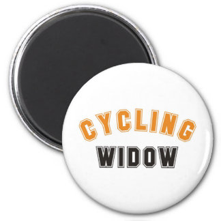 cycling widow 6 cm round magnet