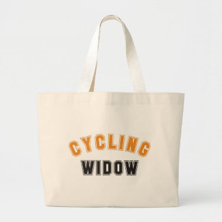 cycling widow large tote bag
