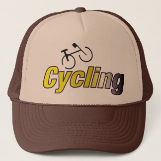 Cycling with Bicycle Trucker Hat