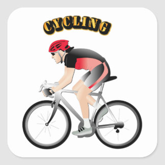 Cycling without Text Square Sticker