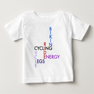 Cycling Word Puzzle Baby T-Shirt