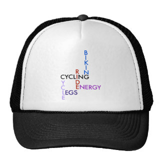 Cycling Word Puzzle Cap