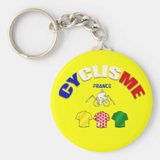 Cyclisme France Cycling Gift Ideas Basic Round Button Key Ring