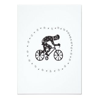 Cyclist 2 13 cm x 18 cm invitation card