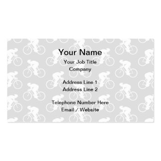 Cyclist and Bicycle Pattern in Gray. Pack Of Standard Business Cards