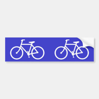 Cyclist Bicycle Sign Cycle Bike Cycling Symbol Bumper Sticker