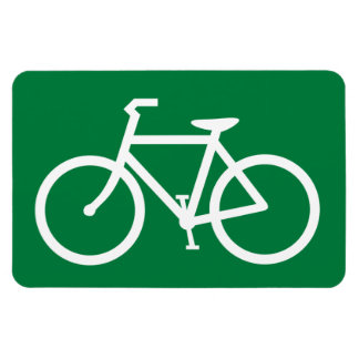 Cyclist Bicycle Sign Cycle Bike Cycling Symbol Rectangular Photo Magnet