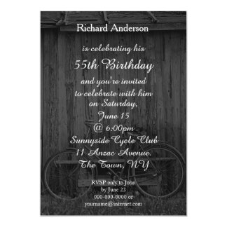 Cyclist Birthday Celebration Invitation - any age