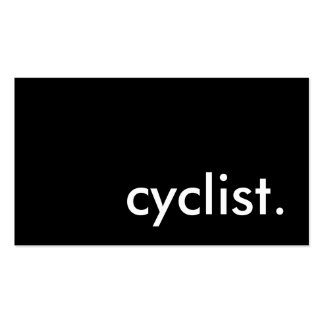 cyclist. pack of standard business cards