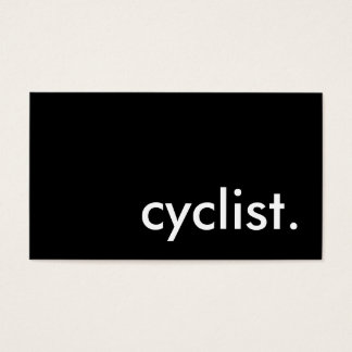 cyclist. business card